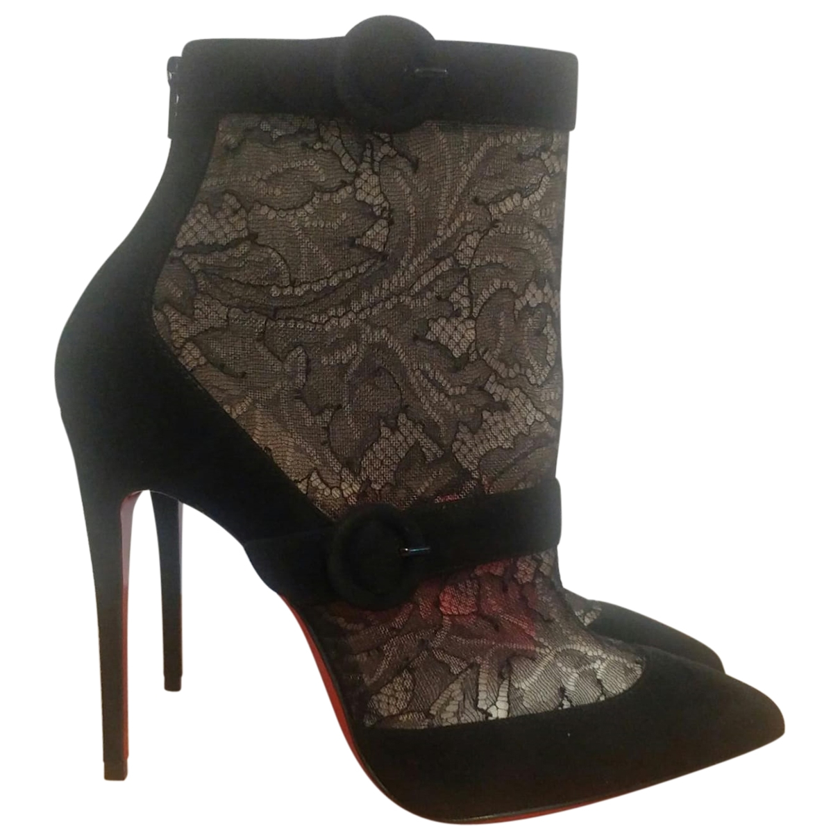 Christian Louboutin So Kate Booty Black Suede Ankle boots for Women 37 EU