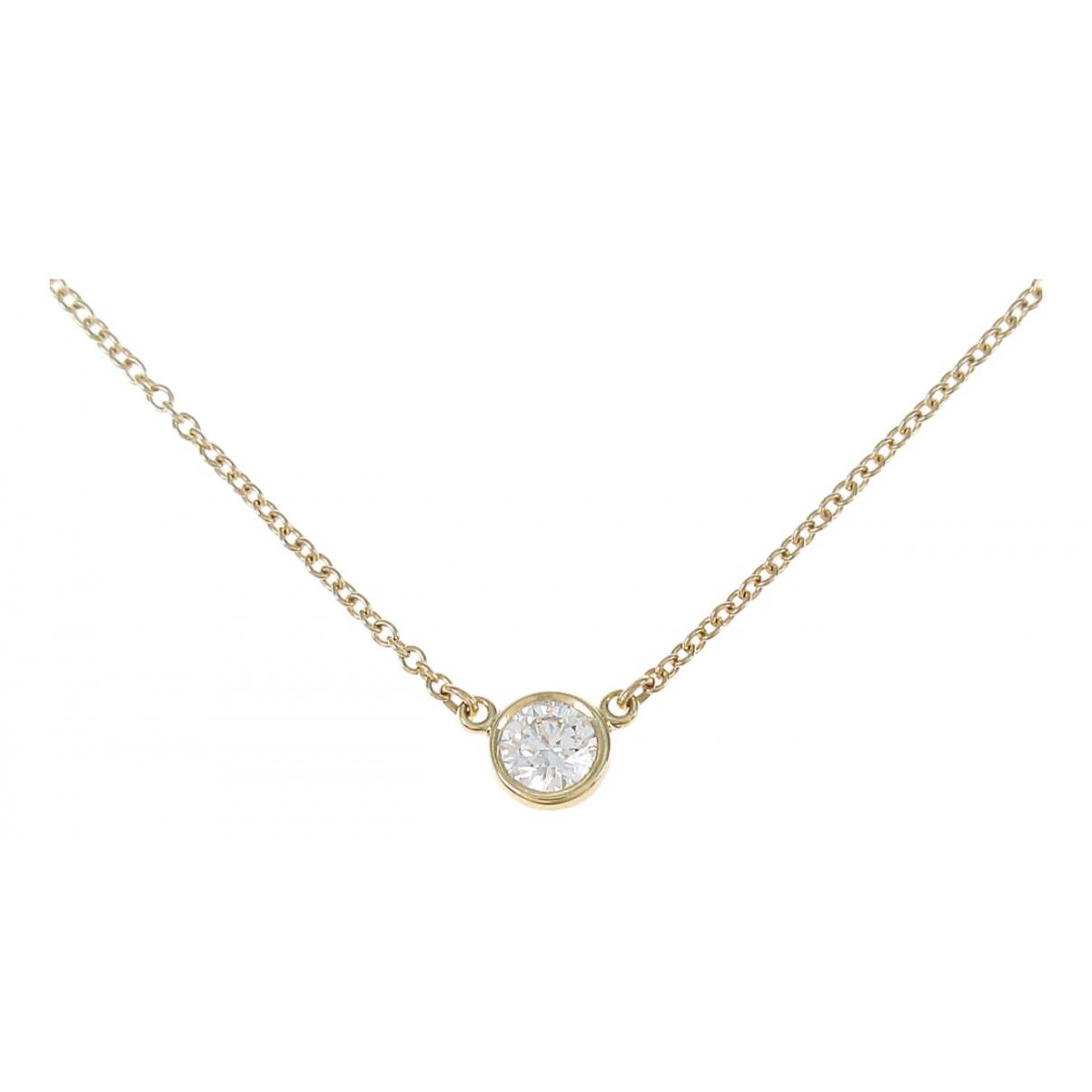 Tiffany & Co Elsa Peretti  Kette in  Gold Gelbgold