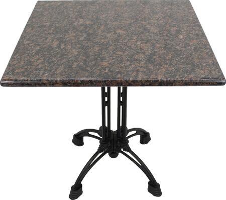 G215 30X30-CA18-24D 30x30 Tan Brown Granite Tabletop with 17