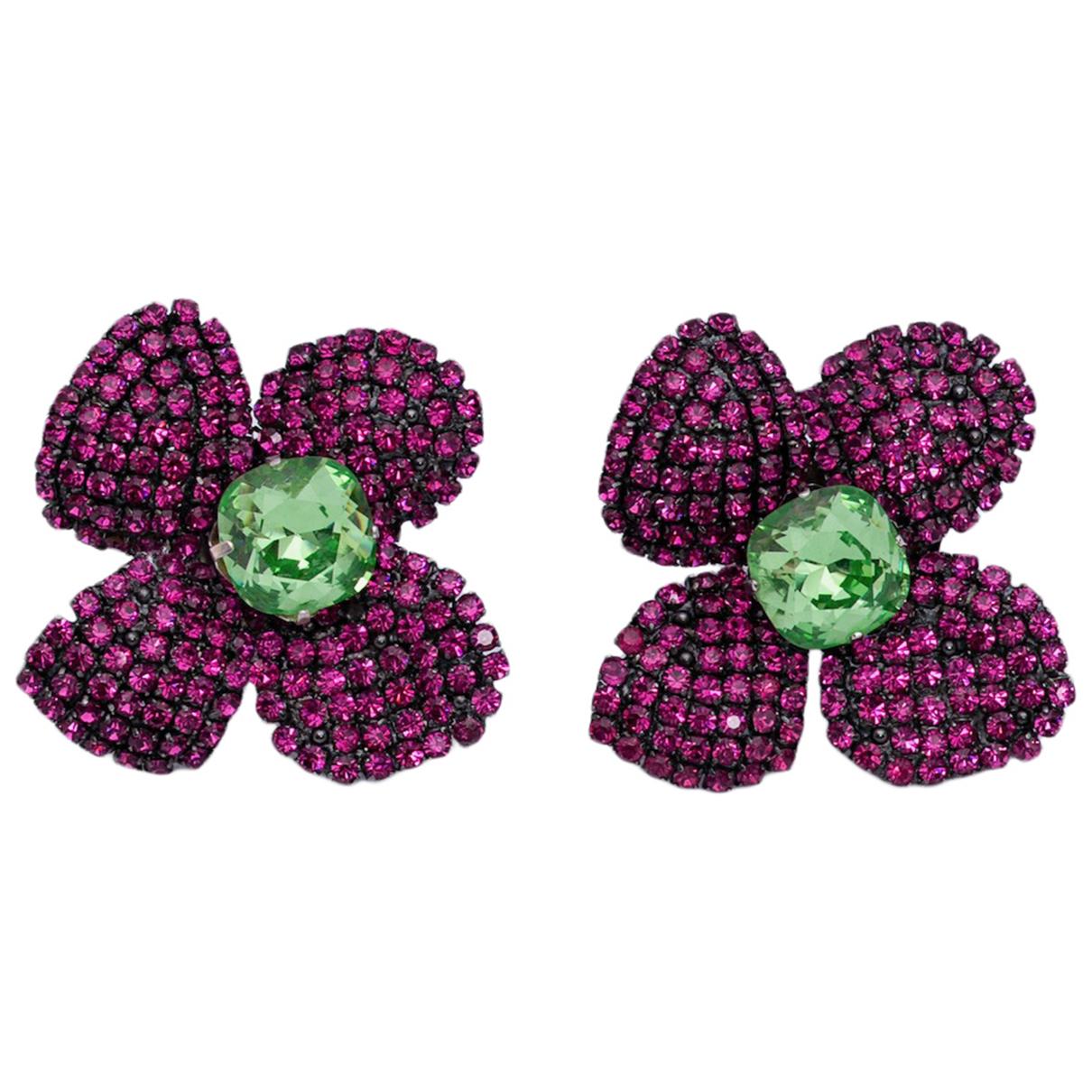 Yves Saint Laurent N Purple Metal Earrings for Women N