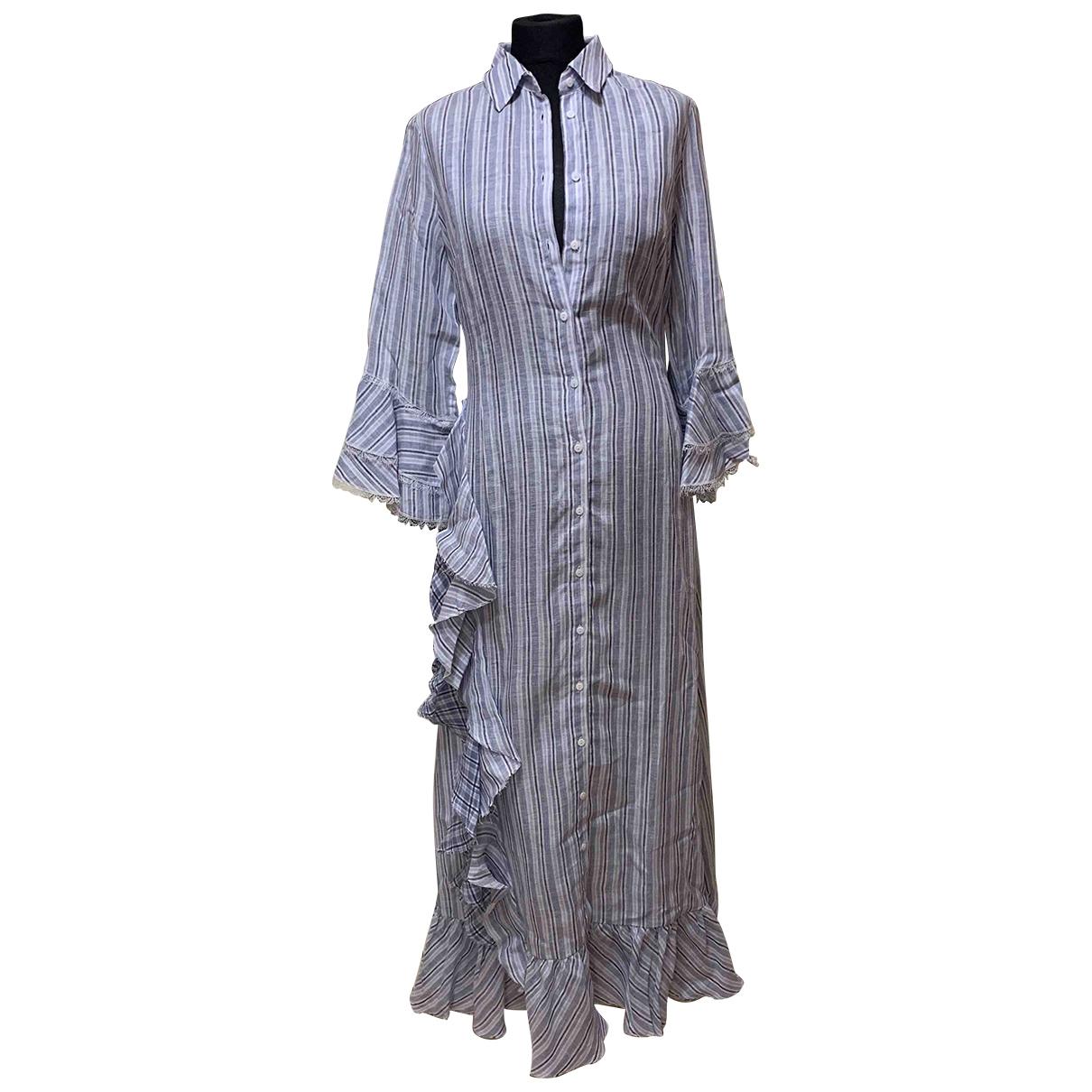 Ermanno Scervino \N Navy Linen dress for Women 42 IT