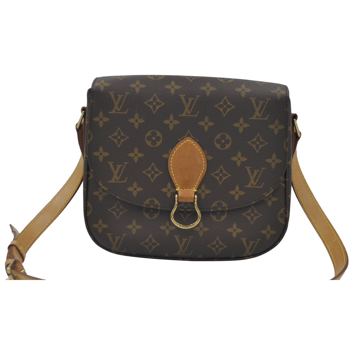 Louis Vuitton Saint Cloud vintage Brown Cloth handbag for Women \N
