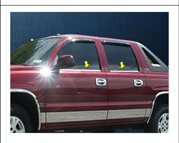 Quality Automotive Accessories 4-Piece Window Sill Trim Kit Chevrolet Suburban 2001