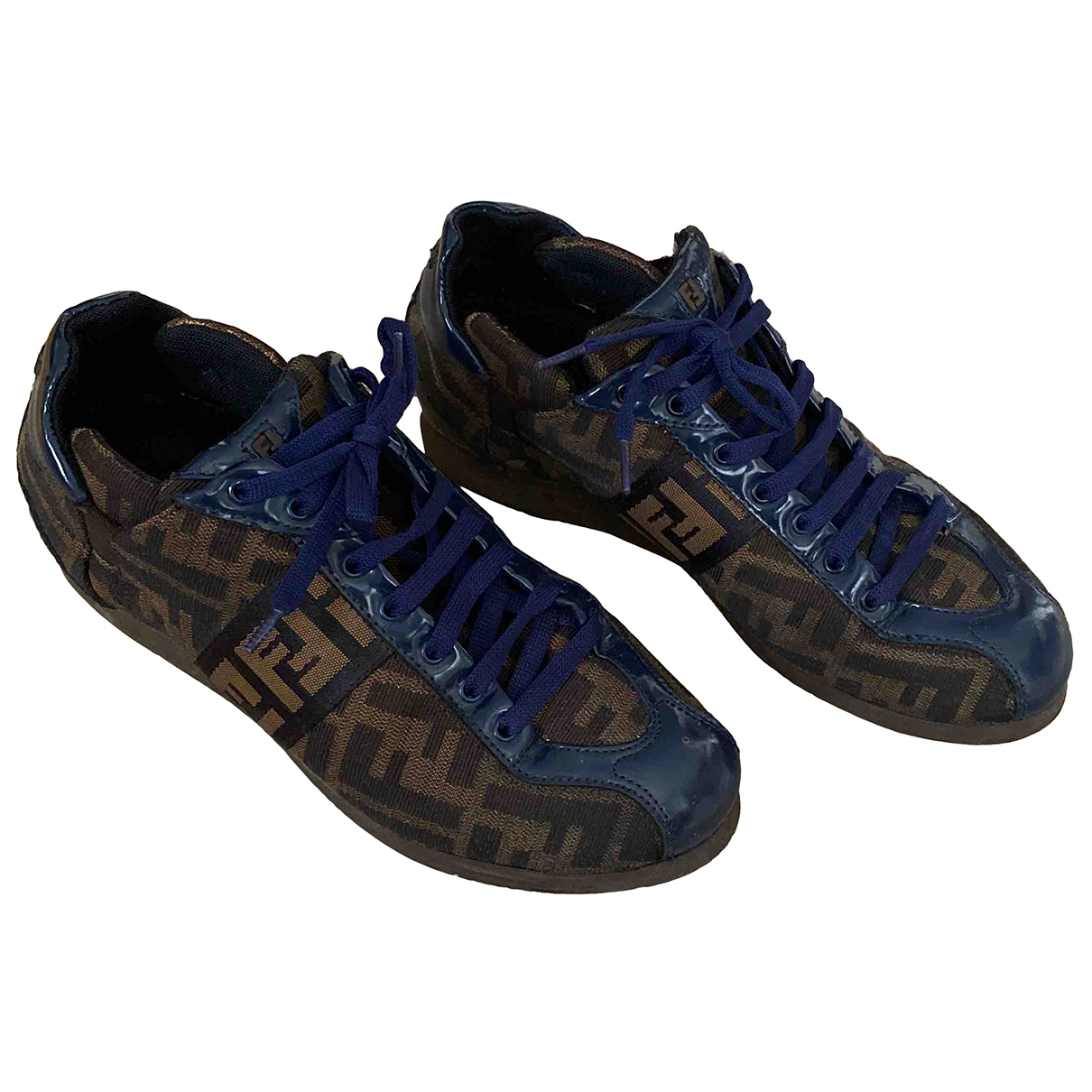 Fendi \N Brown Cloth Trainers for Women 37 IT