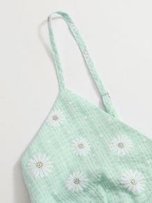 Plus Daisy Floral Bustier Cami Top
