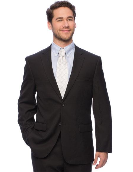 Caravelli Mens Single Breasted ClassicFit Black DoubleVent Vested Suit