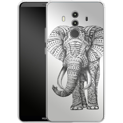 Huawei Mate 10 Pro Silikon Handyhuelle - Ornate Elephant von BIOWORKZ
