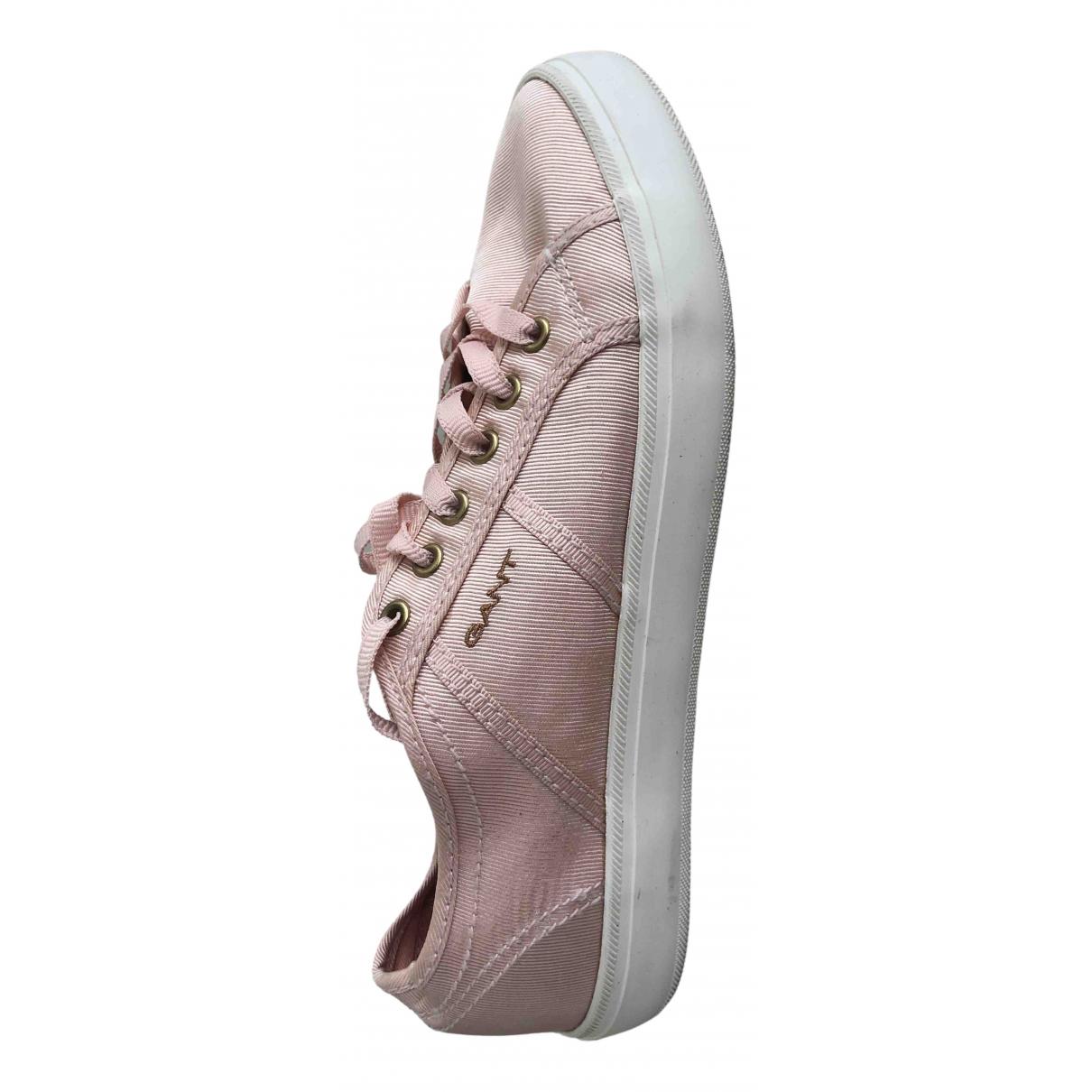 Gant \N Sneakers in  Orange Leinen