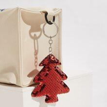 Christmas Tree Shaped Sequin Bag Charm
