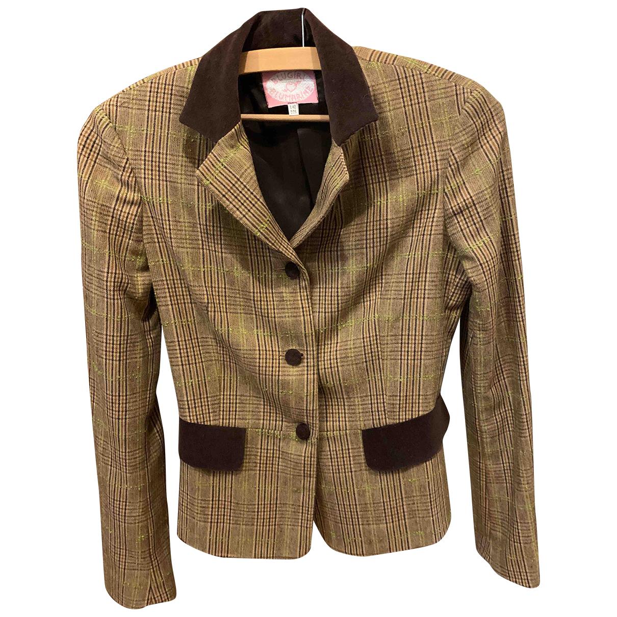Blumarine - Veste   pour femme en laine - marron