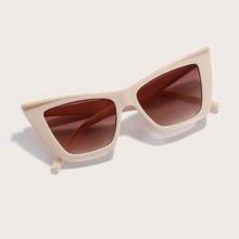 Sonnenbrille mit Katzen Augen Design