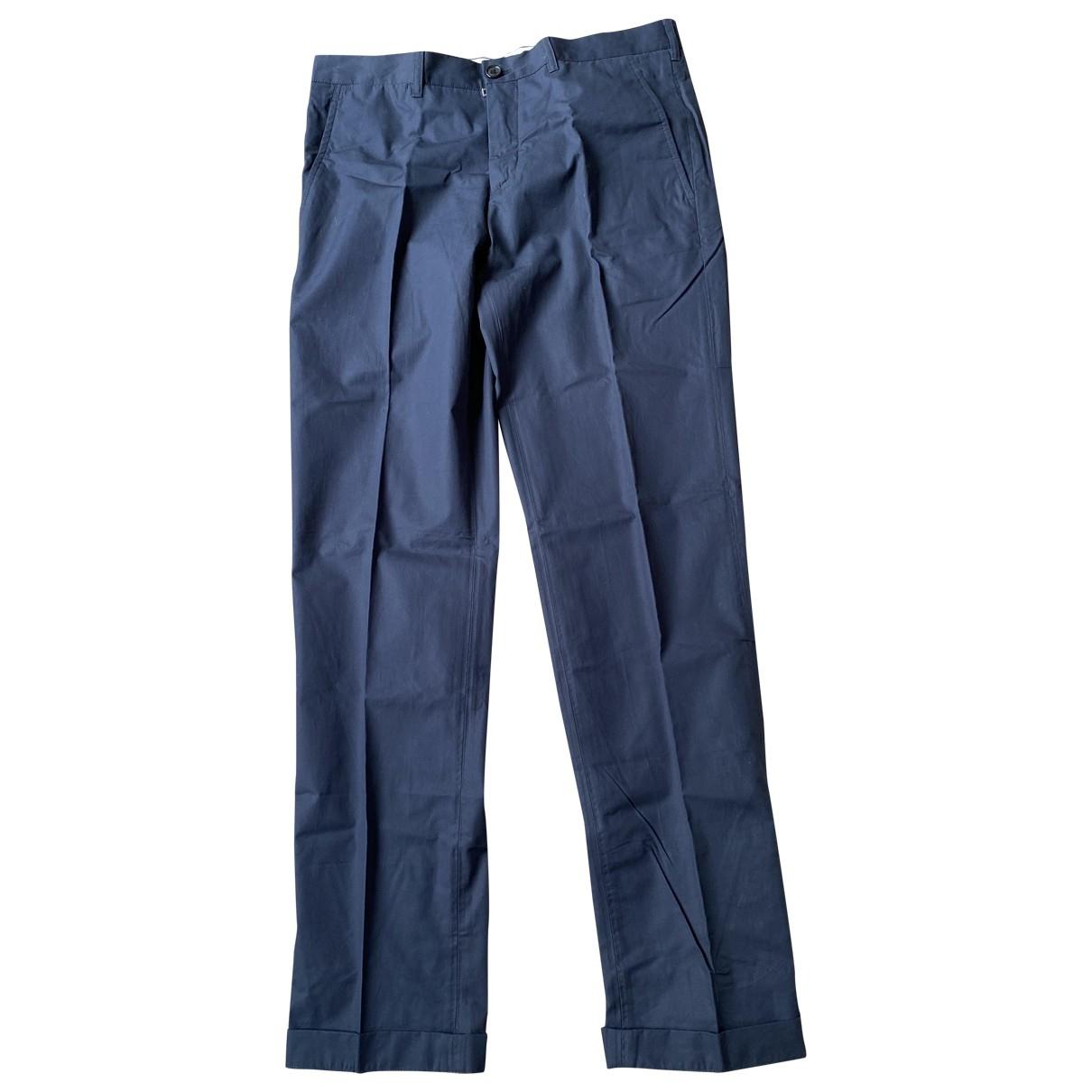 Prada \N Navy Cotton Trousers for Men 48 IT
