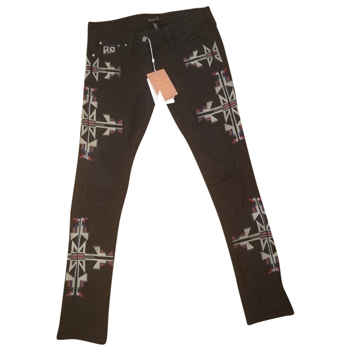 Isabel Marant Etoile \N Hose in  Schwarz Denim - Jeans