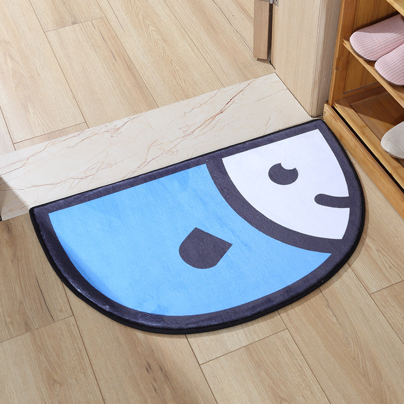 Semicircle Creative Puzzle Polyester Cartoon Style Area Rug