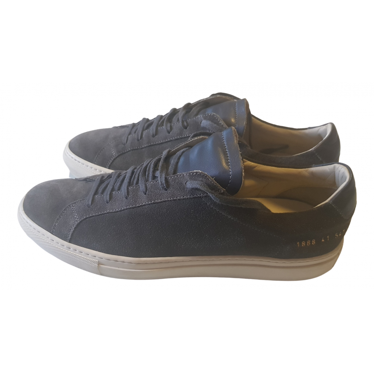 Common Projects N Grey Suede Trainers for Men 43 EU