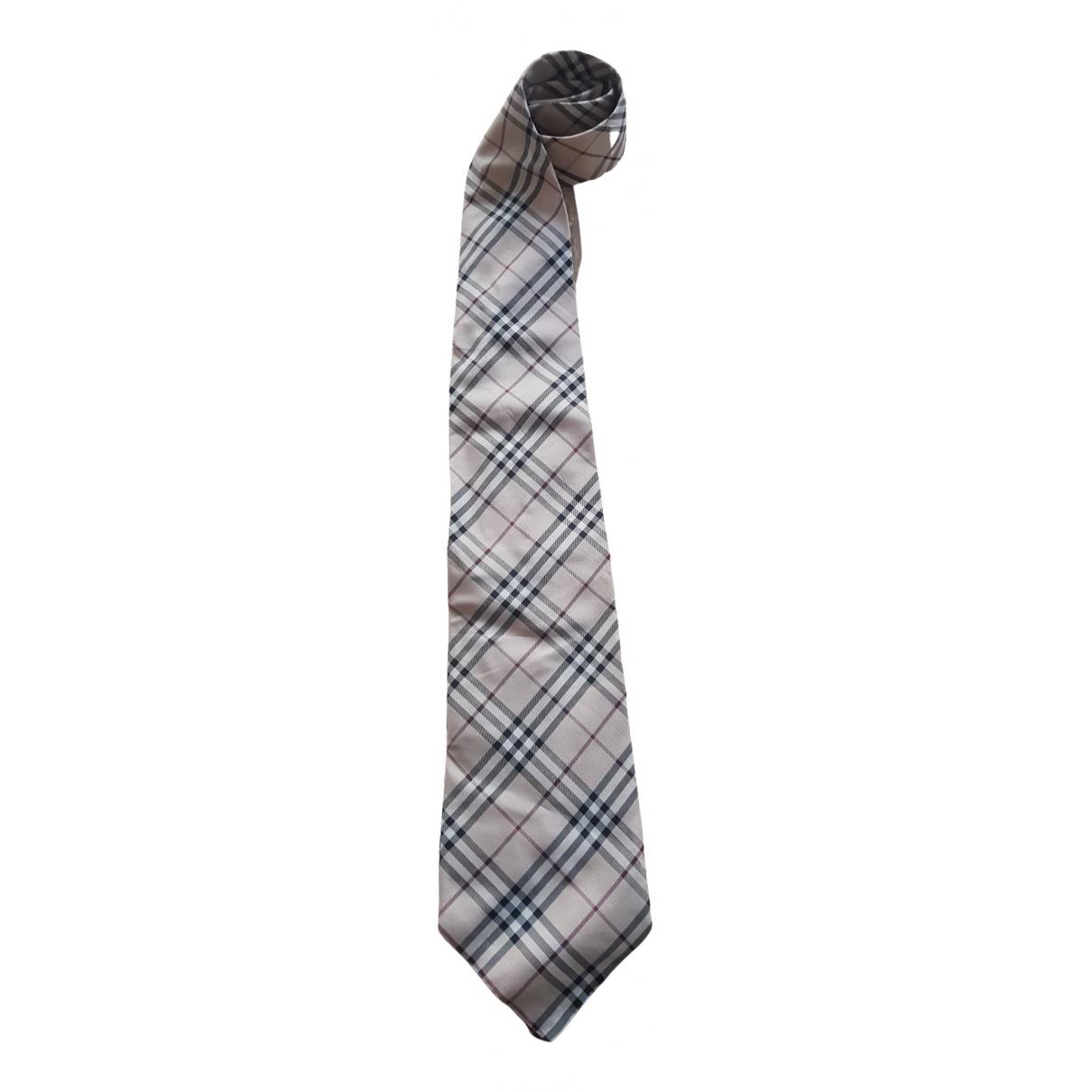 Burberry \N Brown Silk Ties for Men \N