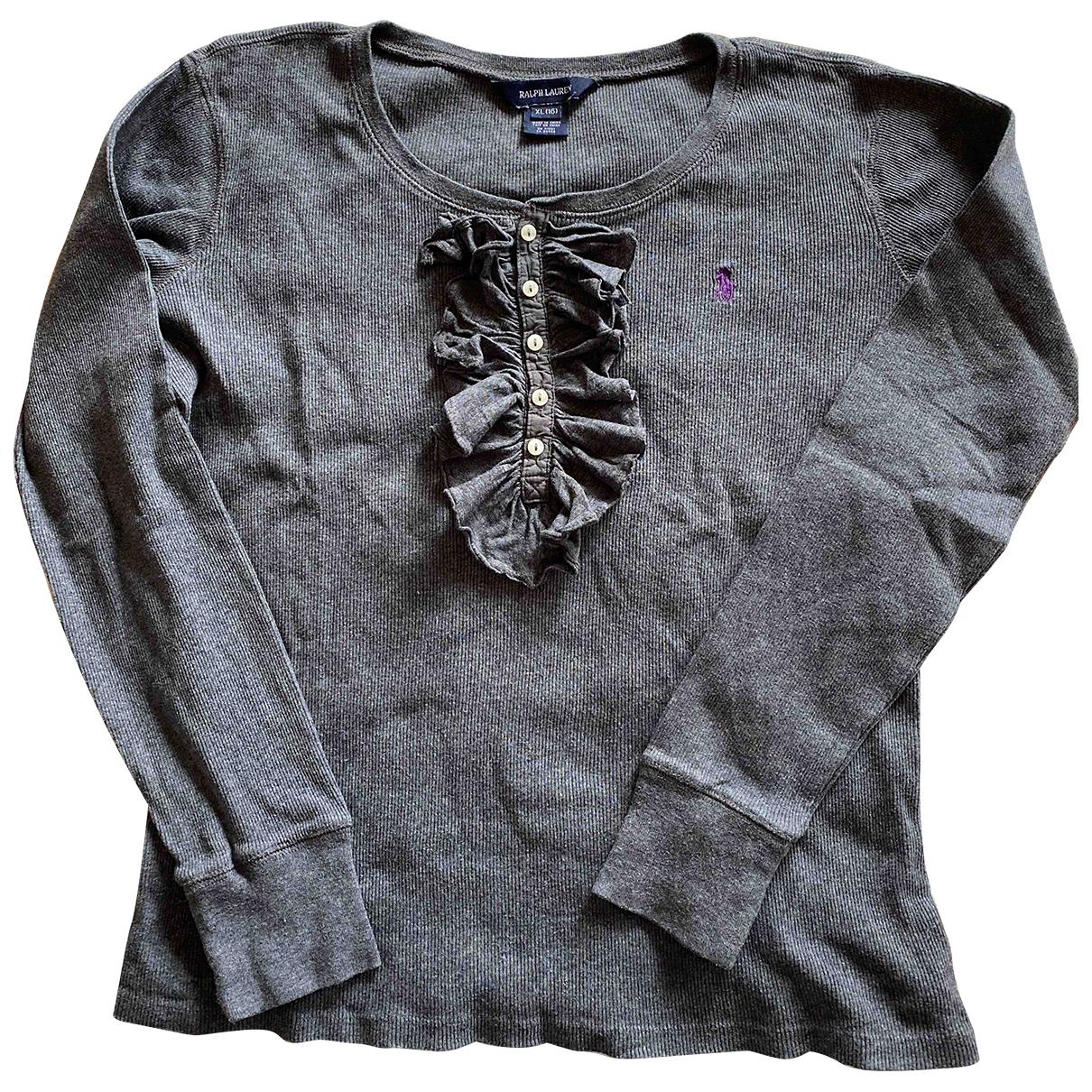 Ralph Lauren - Top   pour enfant en coton - gris
