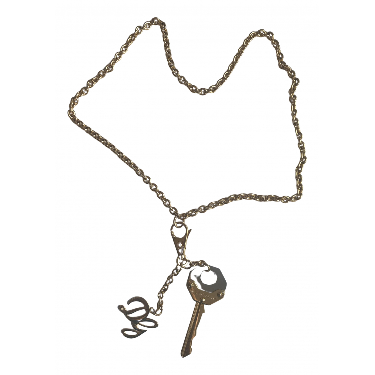 Dolce & Gabbana N Gold Steel necklace for Women N