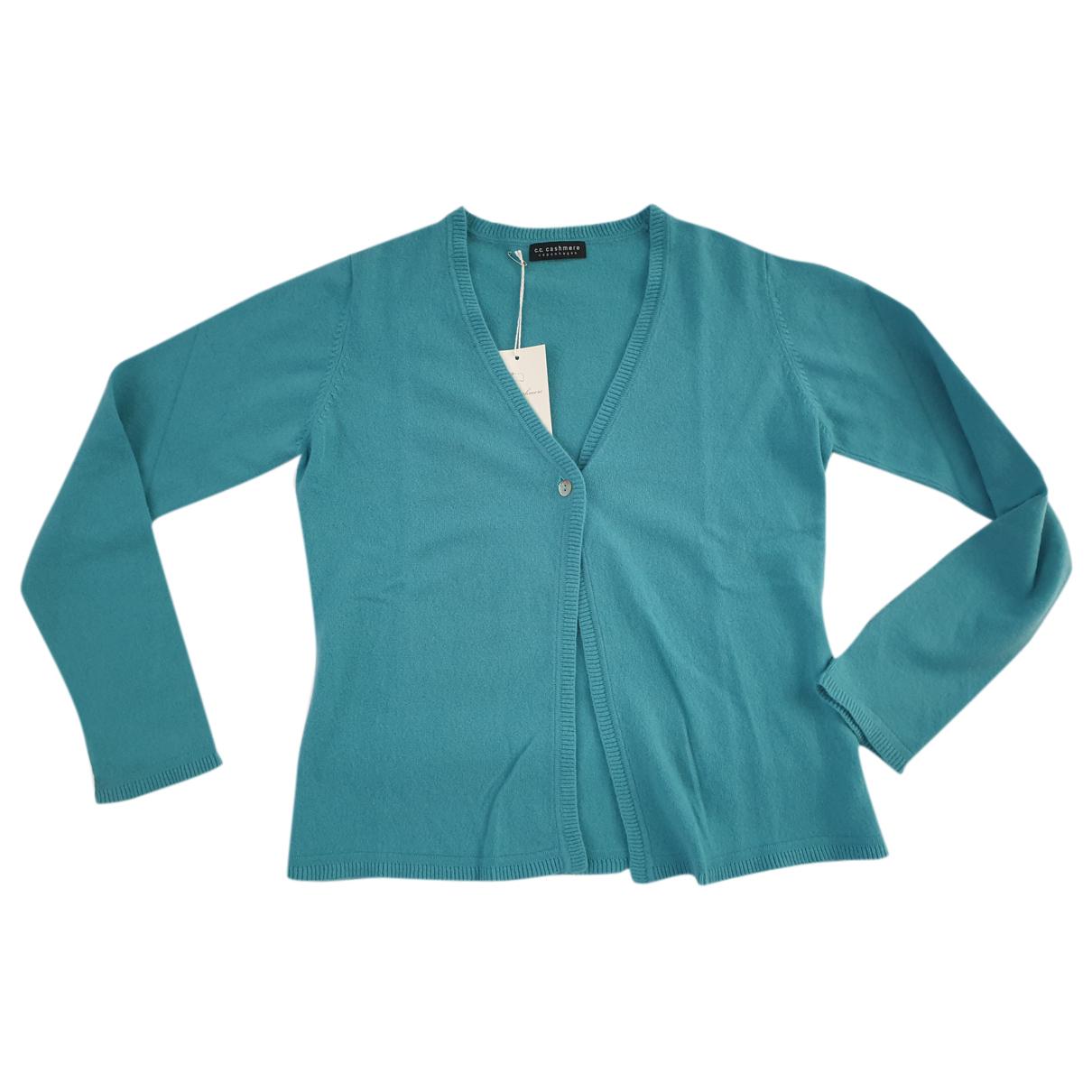 - Pull   pour femme en cachemire - turquoise