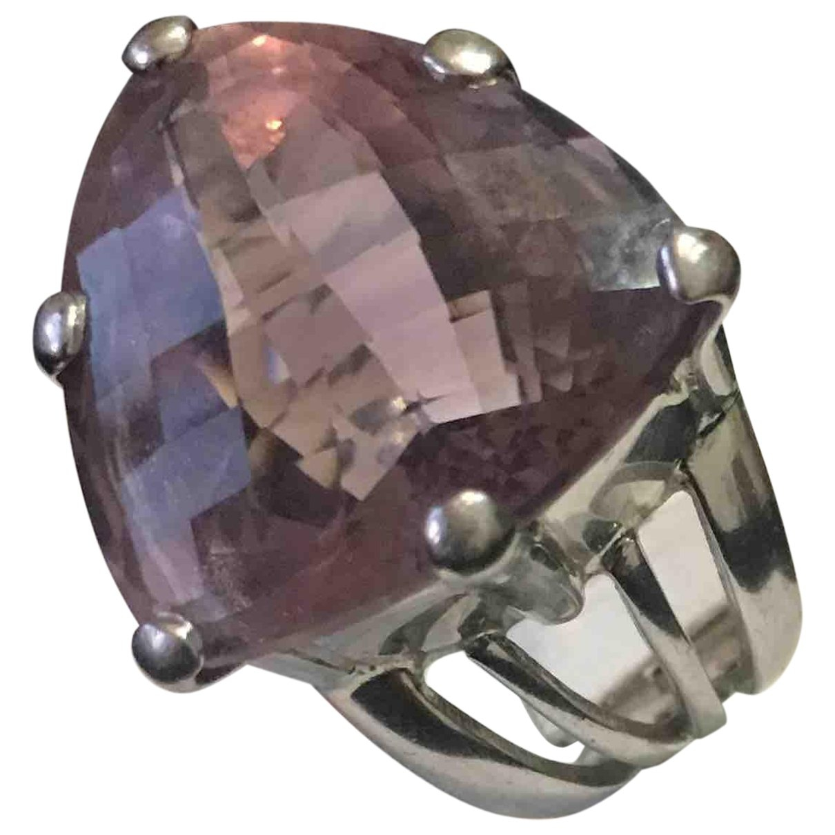 Non Signe / Unsigned Amethyste Ring in  Silber Silber
