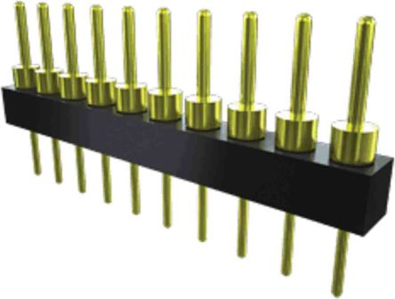Samtec , TS, 8 Way, 1 Row, Straight PCB Header (28)