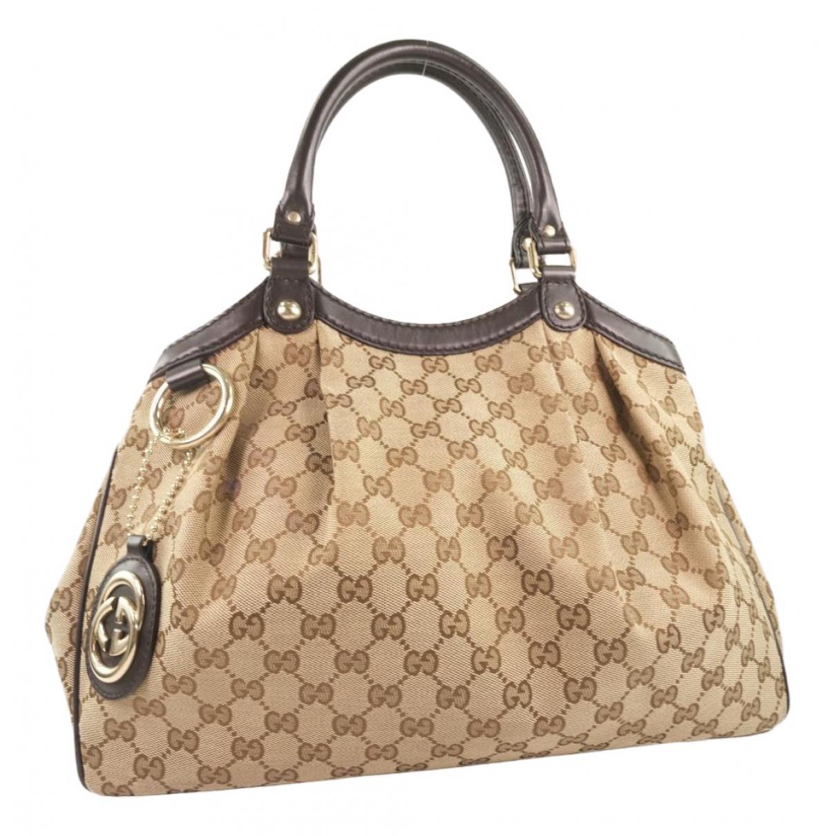 Gucci - Sac a main Sukey pour femme en toile - beige