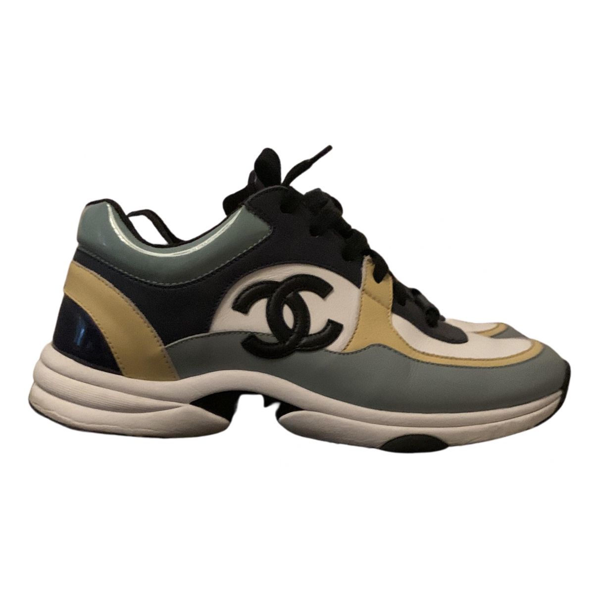 Chanel N Blue Leather Trainers for Women 39 EU