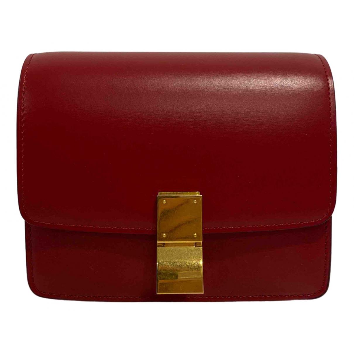 Celine Classic Handtasche in  Rot Leder