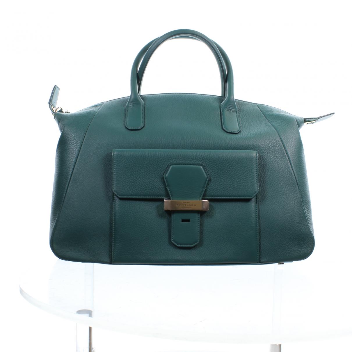 Smythson \N Handtasche in  Gruen Leder