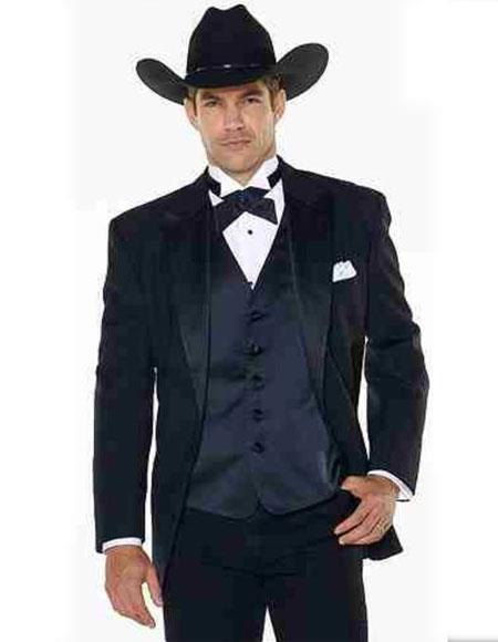 Mens Western Suit & Navy Blue Tuxedo