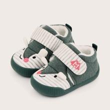 Baby Boy Cartoon Design Velcro Strap Sneakers