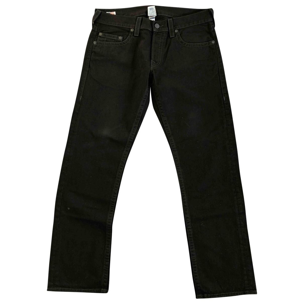 True Religion \N Black Cotton - elasthane Jeans for Men 36 US