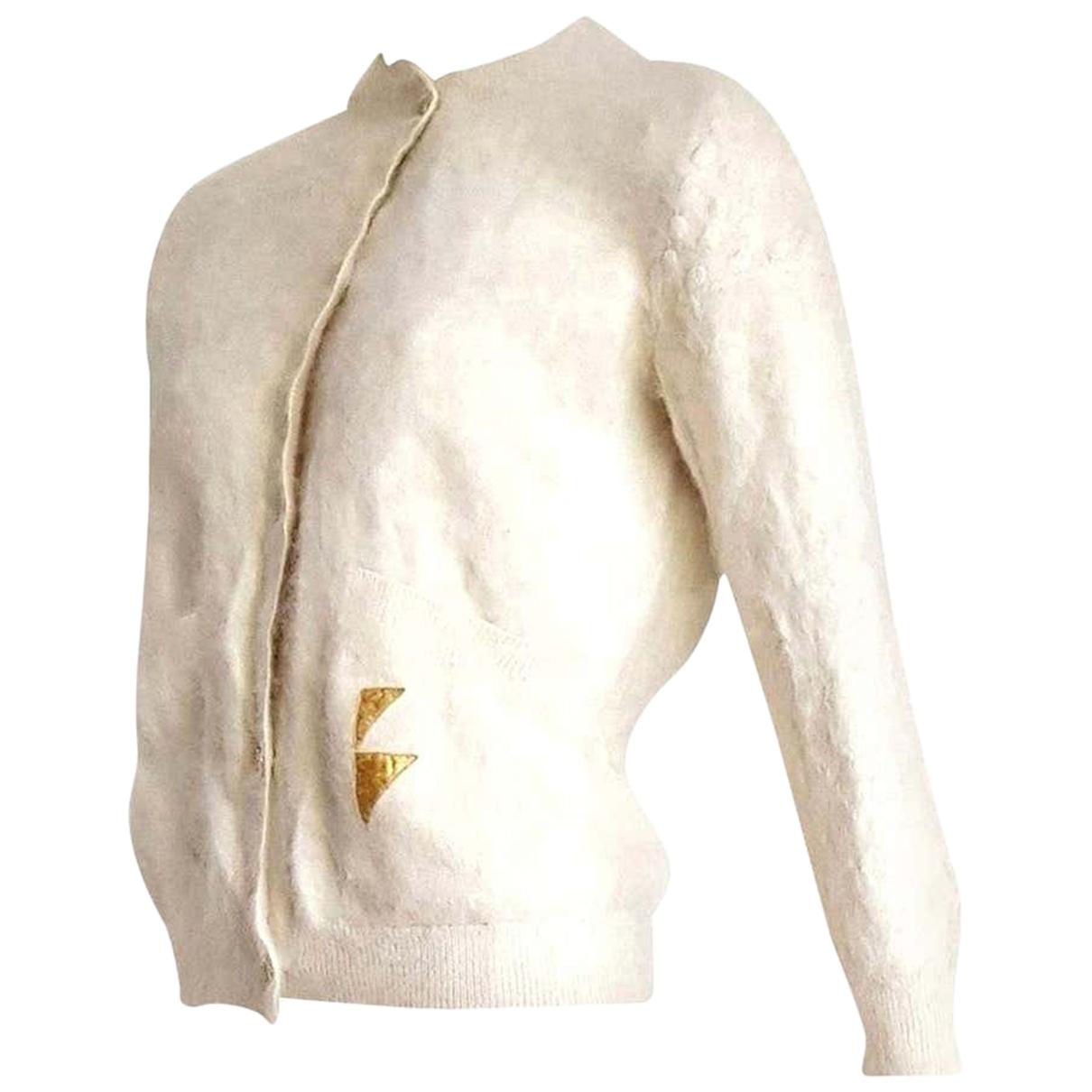 Thierry Mugler - Pull   pour femme en cachemire - blanc