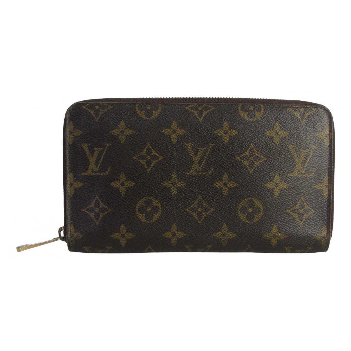 Louis Vuitton Zippy Brown Cloth wallet for Women N