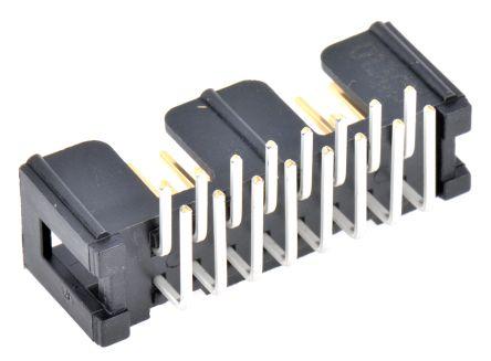 3M , 2500, 16 Way, 2 Row, Right Angle PCB Header