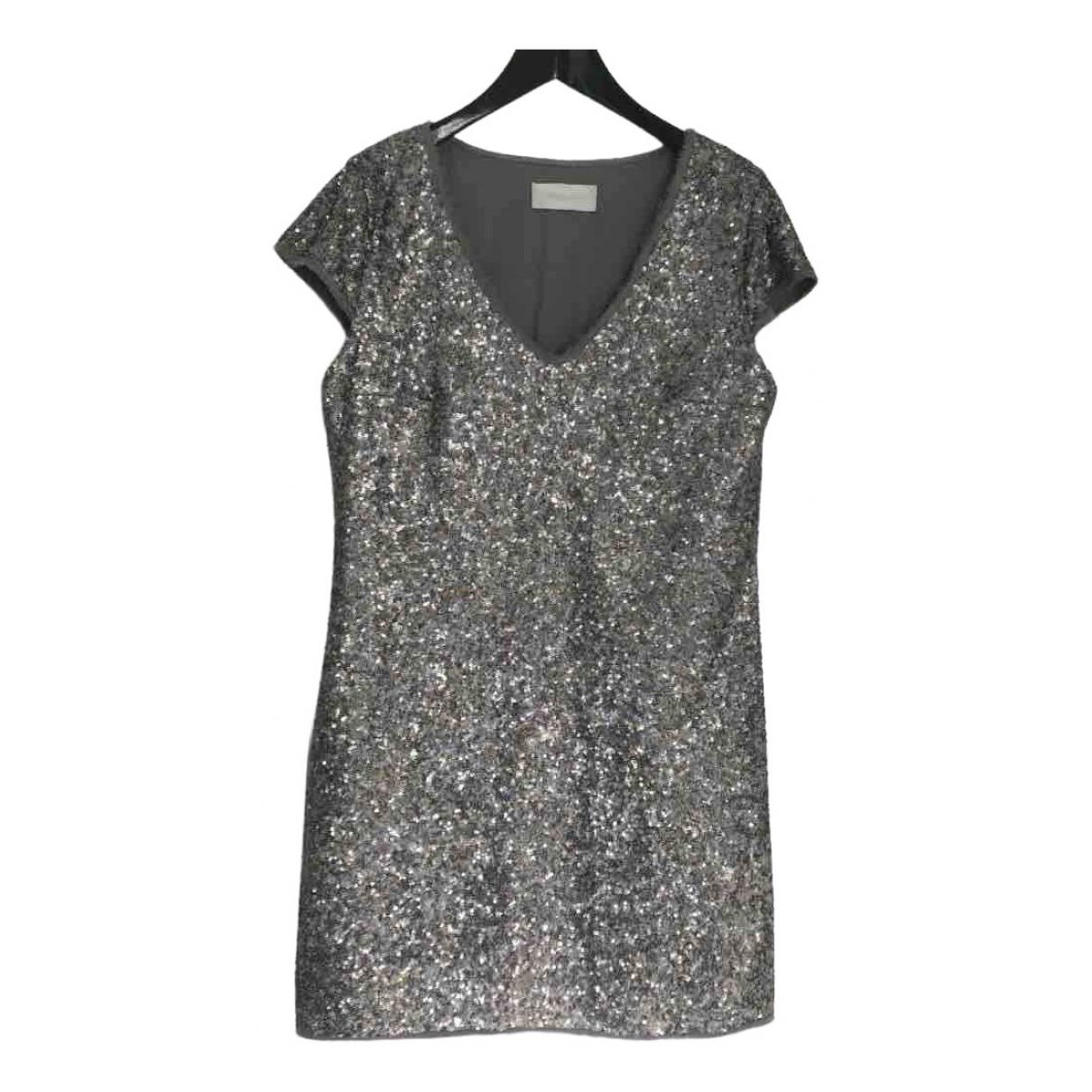 Zadig & Voltaire \N Kleid in  Silber Mit Pailletten