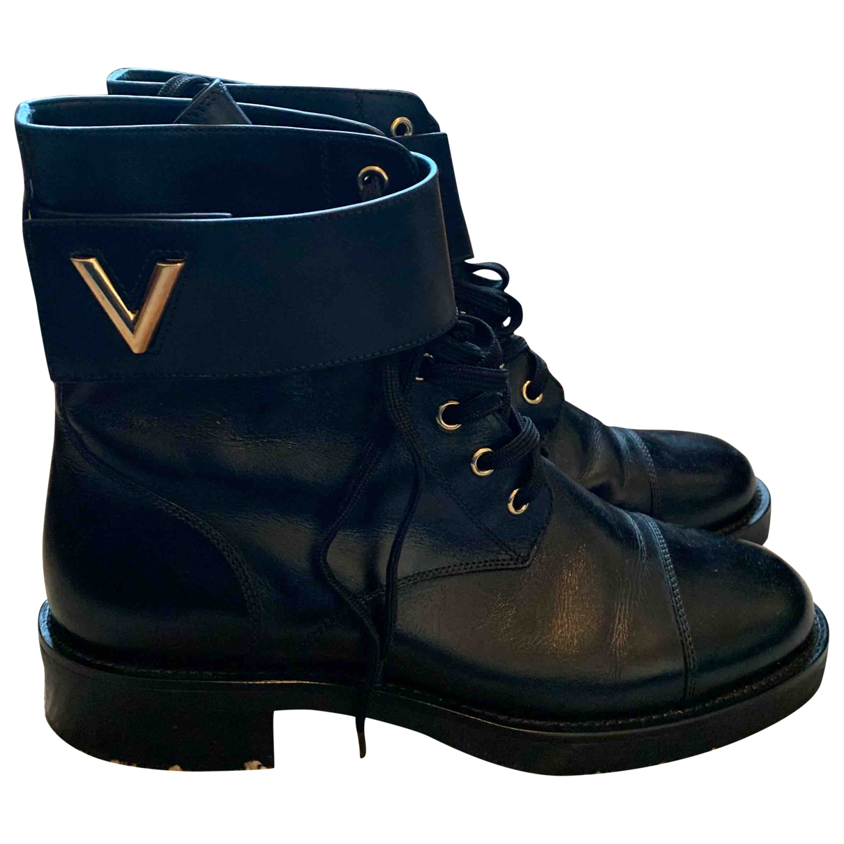 Louis Vuitton Wonderland Stiefeletten in  Schwarz Leder