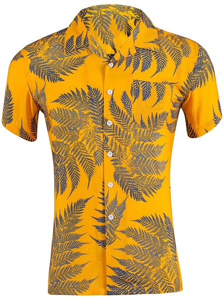 Yoins Men Summer Casual Tropical Beach Holiday Shirt