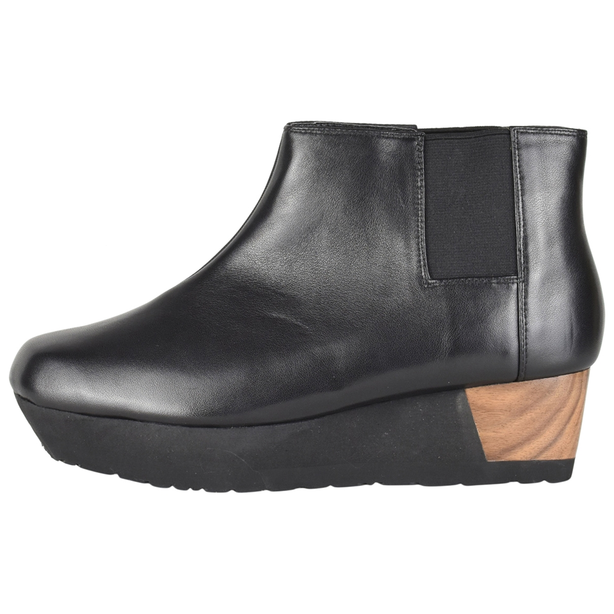 Issey Miyake \N Black Leather Ankle boots for Women 5 UK