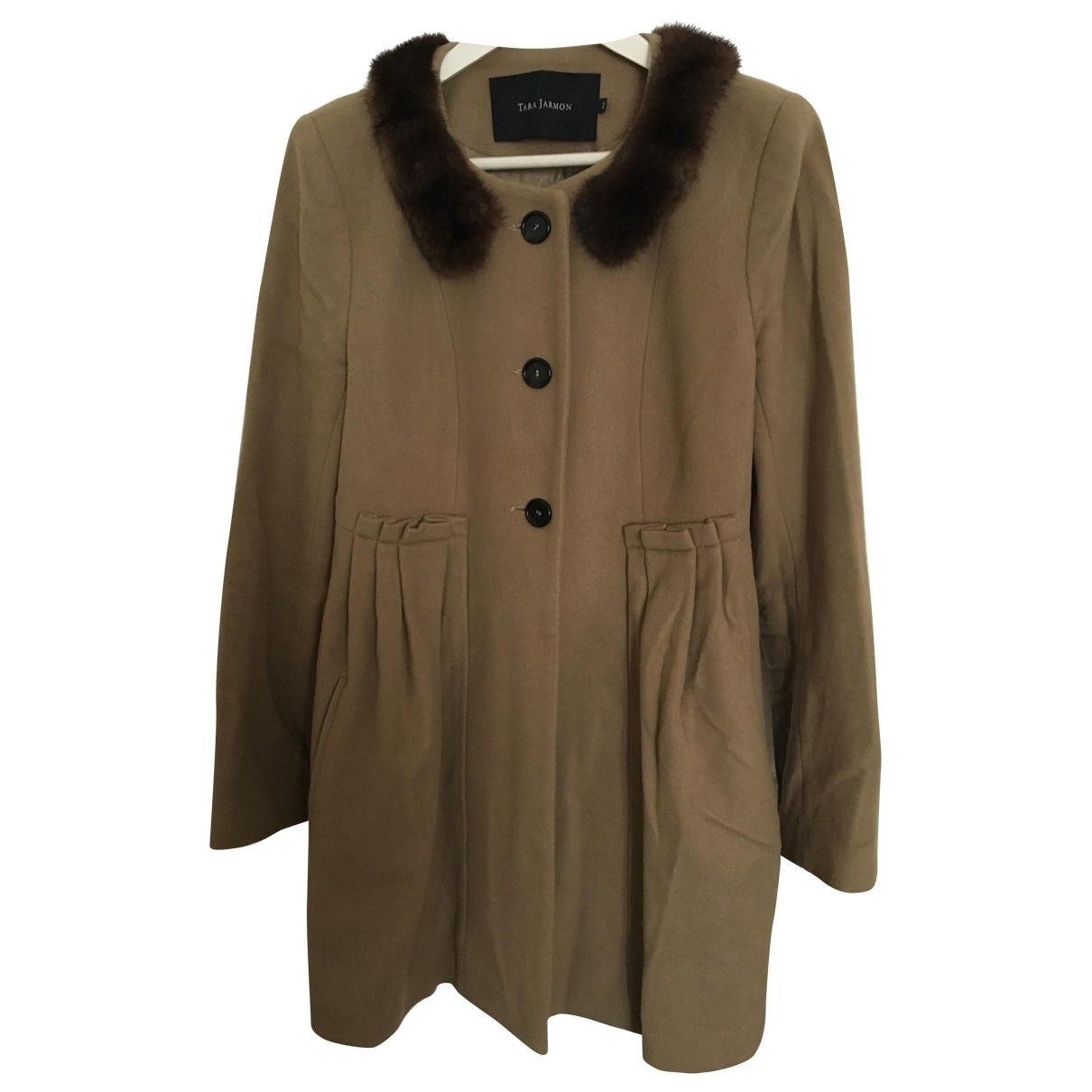 Tara Jarmon - Manteau   pour femme en laine - beige