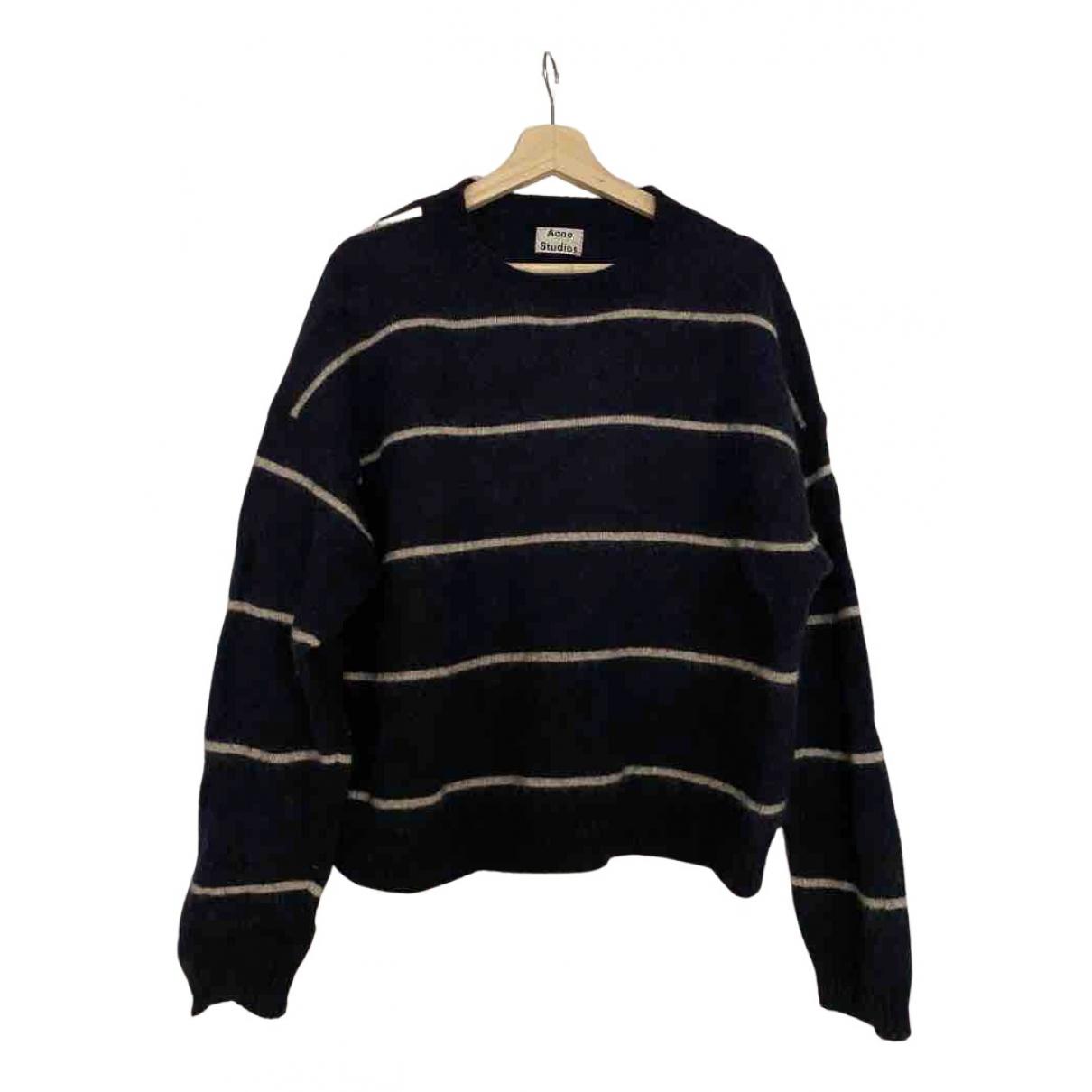 Acne Studios - Pull   pour femme en laine - bleu