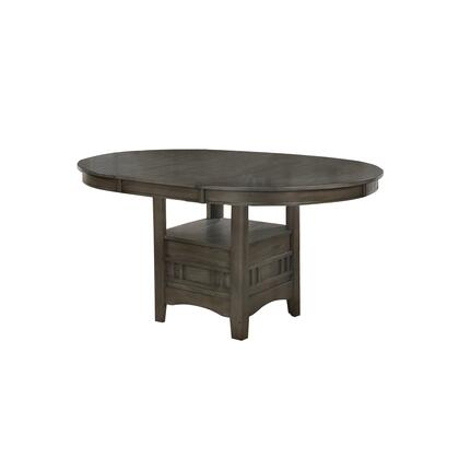 BM215253 Extendable Round Wooden Dining Table with Open Bottom Shelf