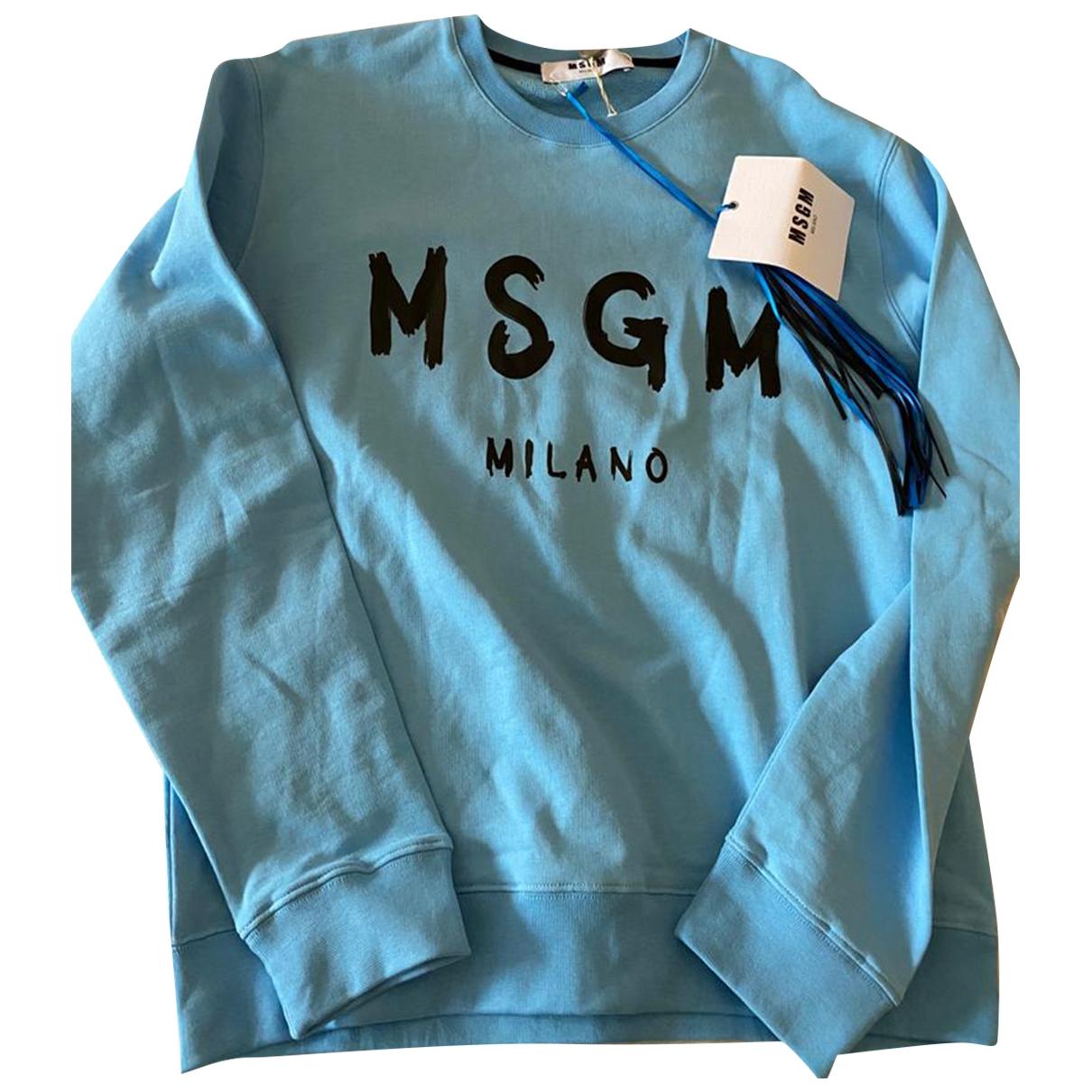 Msgm - Pulls.Gilets.Sweats   pour homme en coton - turquoise