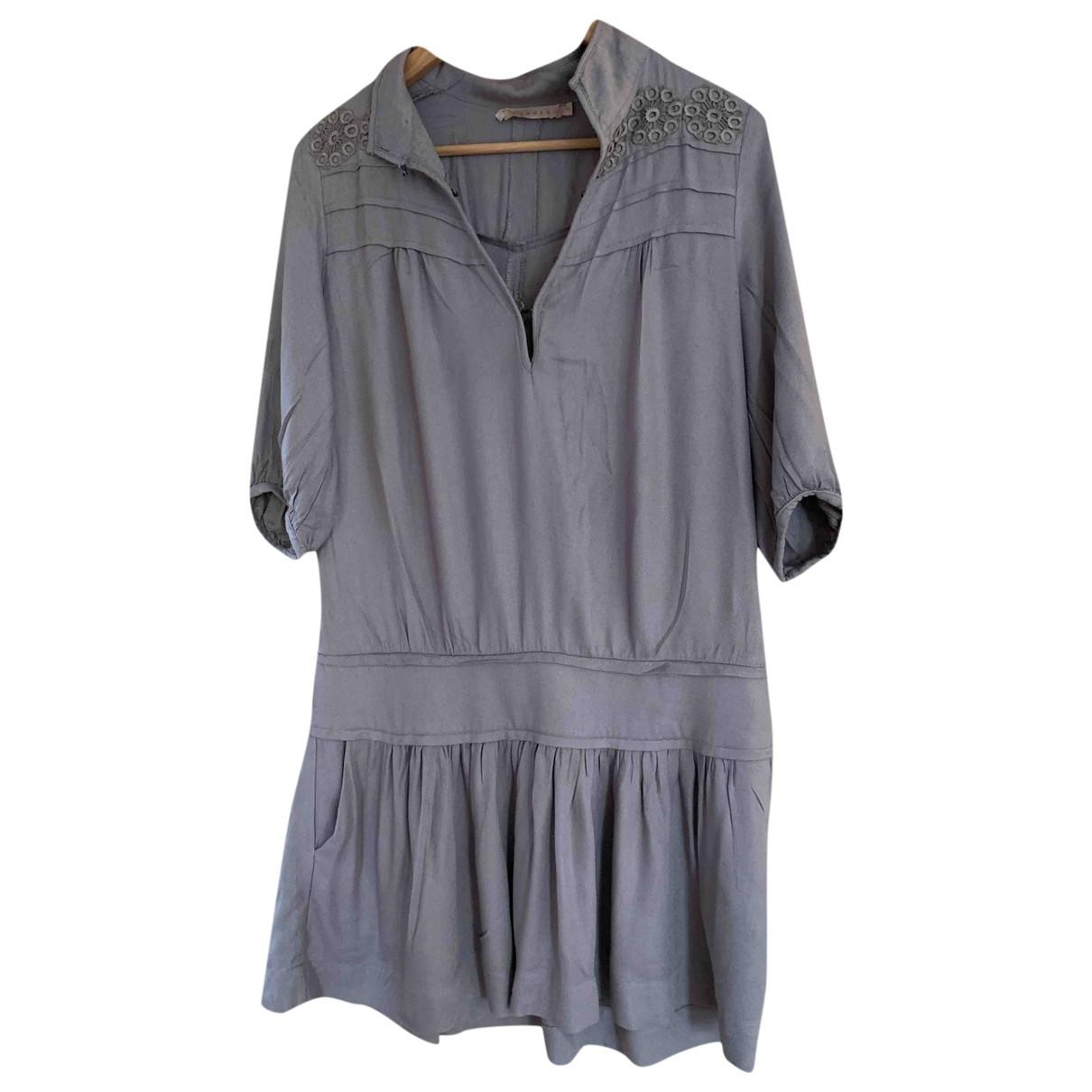 Sandro \N Kleid in  Grau Viskose