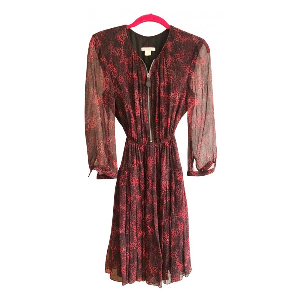 Burberry \N Kleid in  Bordeauxrot Seide