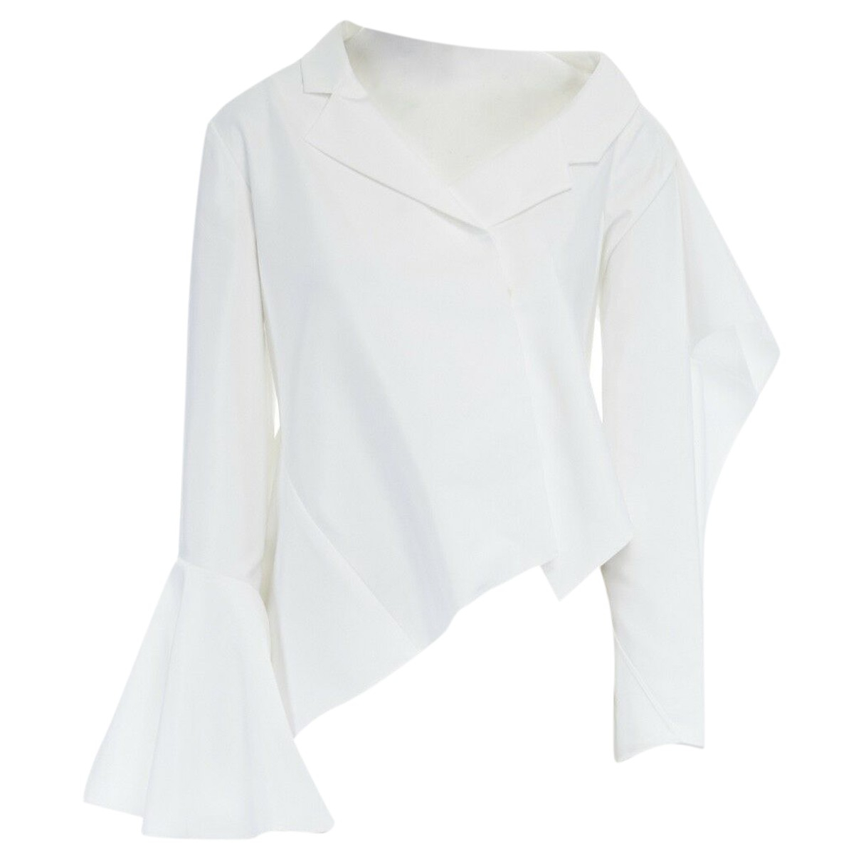 Adeam - Top   pour femme en coton - blanc