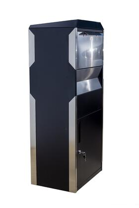 WF-WPB014BKST Parcel Box in Black with Stainless