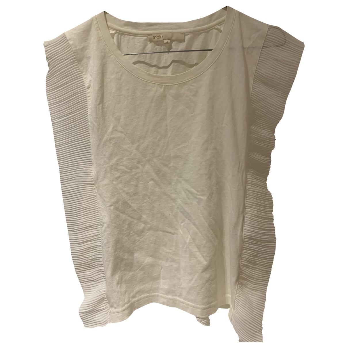 Maje - Top   pour femme en coton - beige