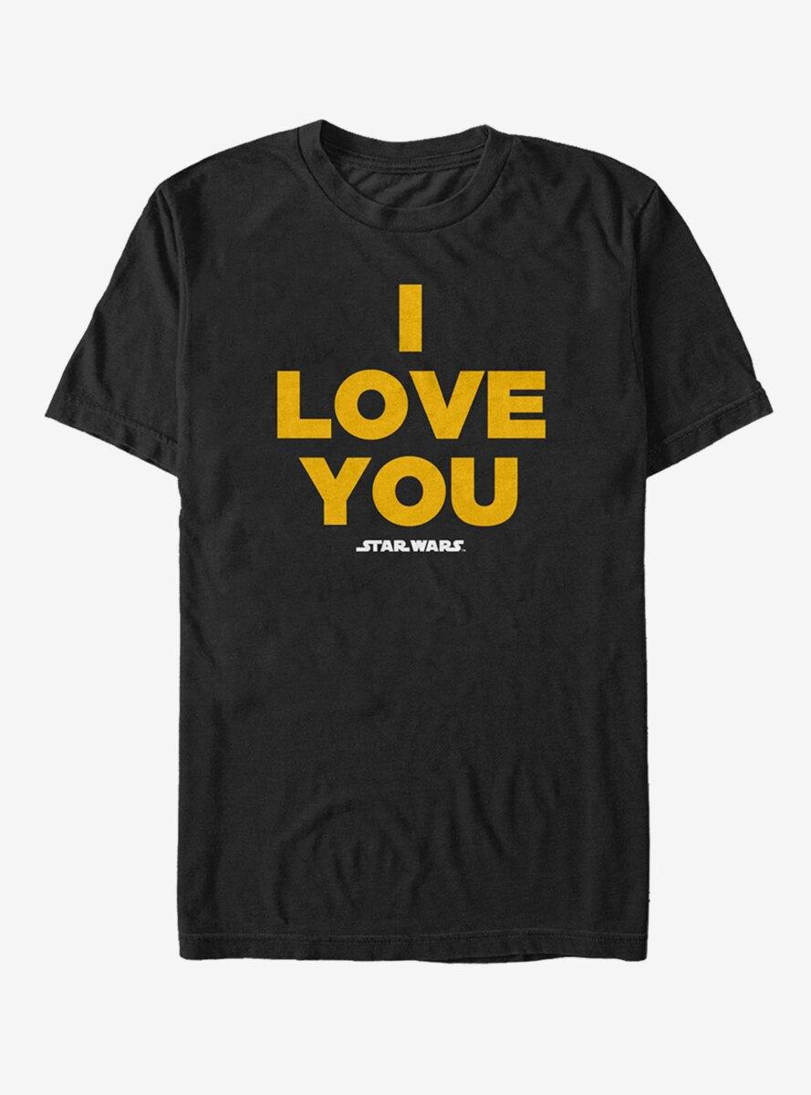 Star Wars Princess Leia I Love You T-Shirt