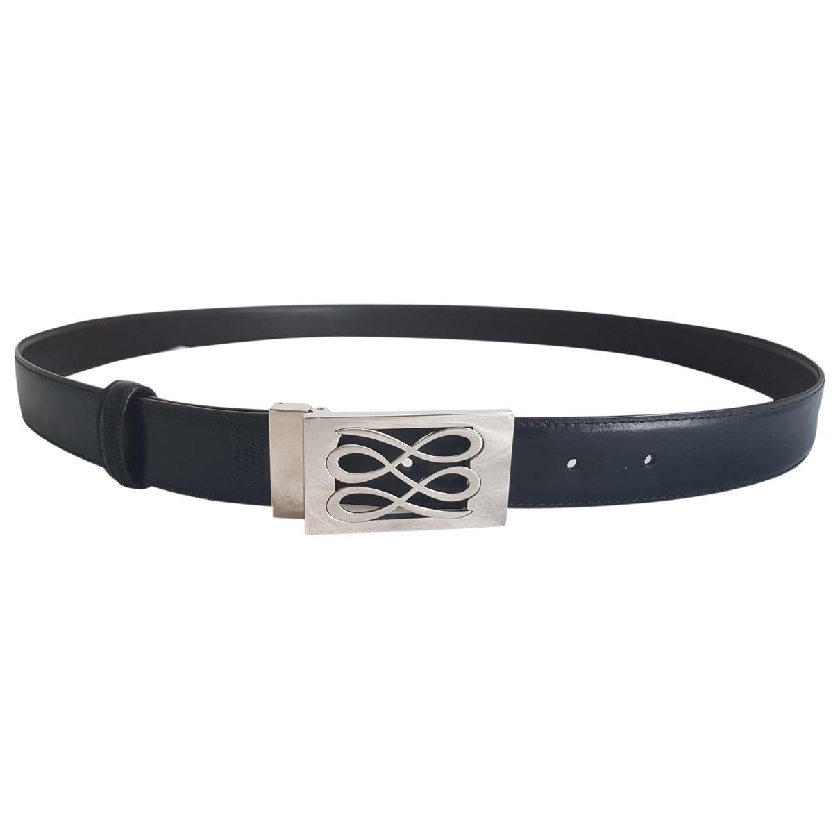 Lancel \N Black Leather belt for Men 100 cm